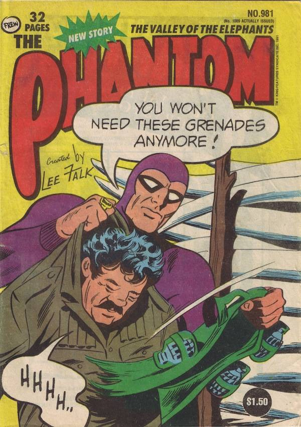 The Phantom (1948) #981, cover by Sy Barry.