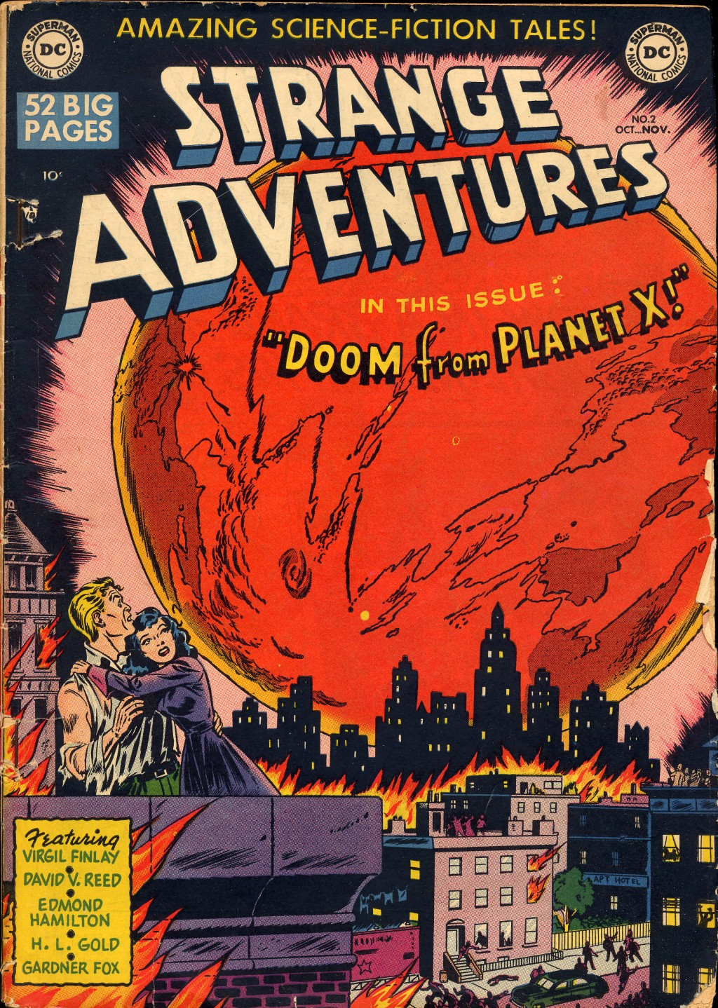 Strange Adventures (1950) #2, cover penciled by Jim Mooney & inked by Sy Barry.