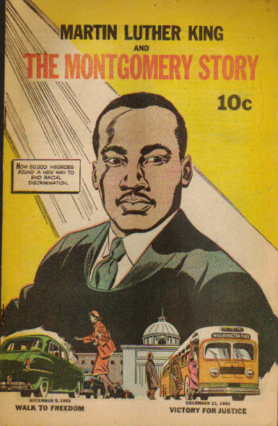 Martin Luther King and the Montgomery Story (1958) #1, art by Sy Barry.