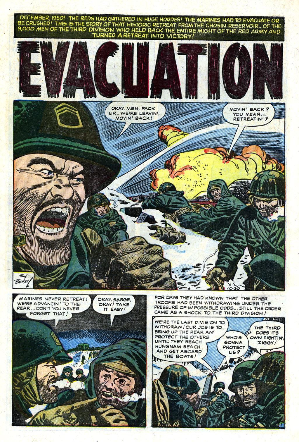 Man Comics (1949) #25 pg1, art by Sy Barry.