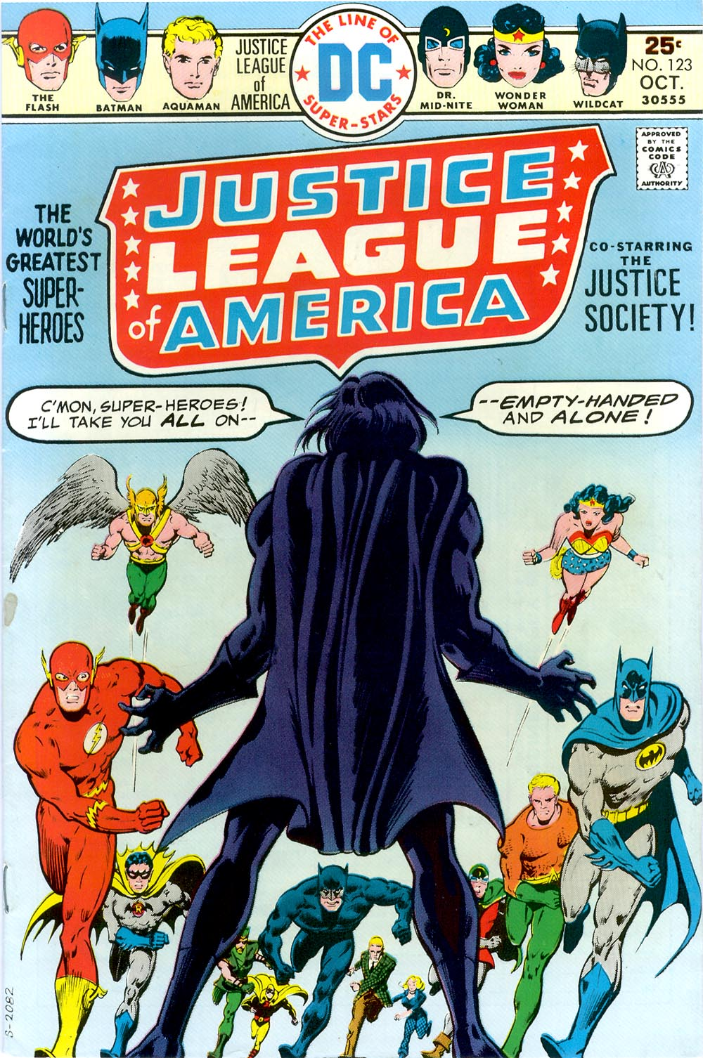 Justice League of America (1960) #123, written by Elliot S Maggin & Cary Bates. Cover by Dick Dillin.