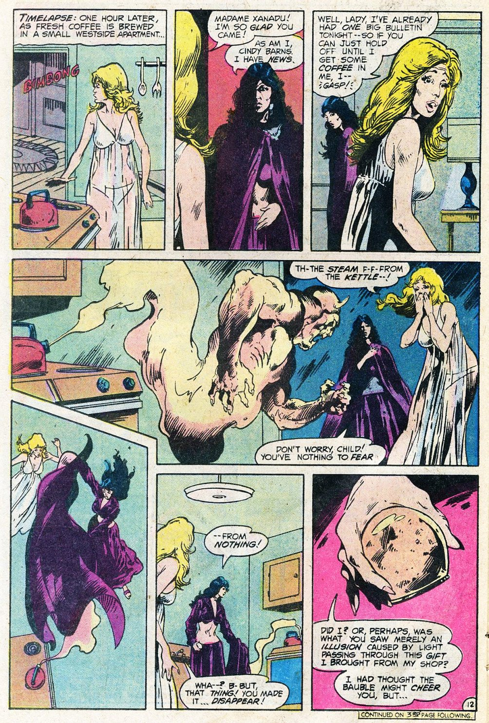 Doorway to Nightmare (1978) #1 pg12, drawn by Val Mayerik & colored by Liz Berube.