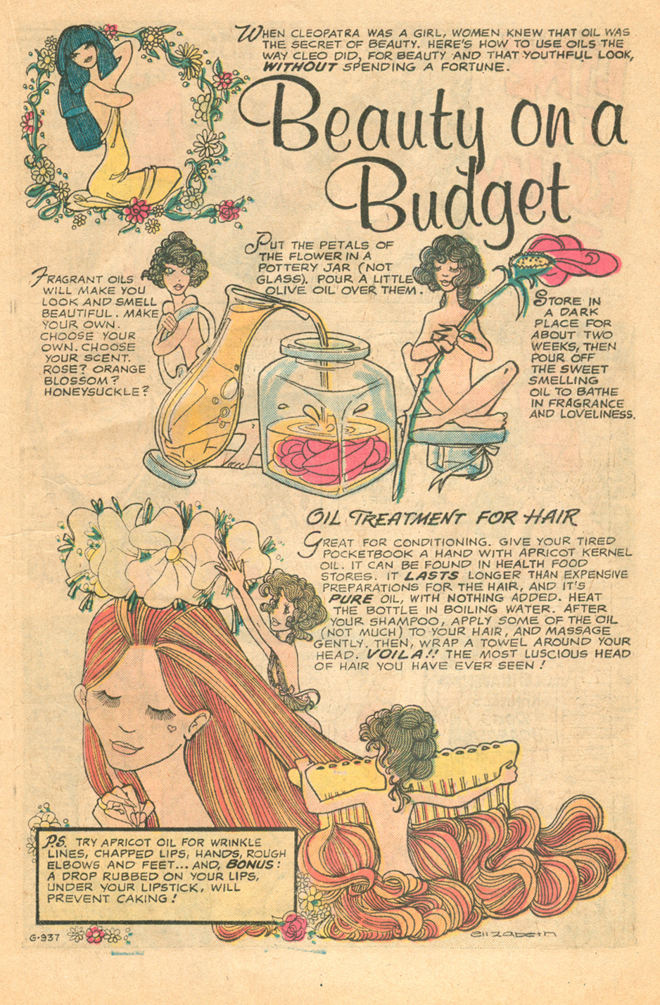 Young Love (1963) #119, Beauty on a Budget with art by Elizabeth Berube.