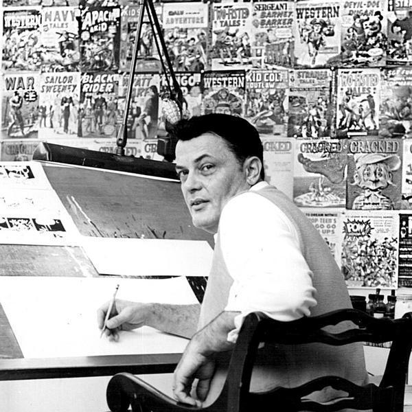 John Severin at his drawing table.