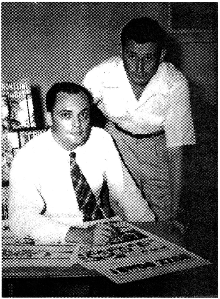 John Severin & Will Elder (c.1951) with some pages from Buzz Bomb.