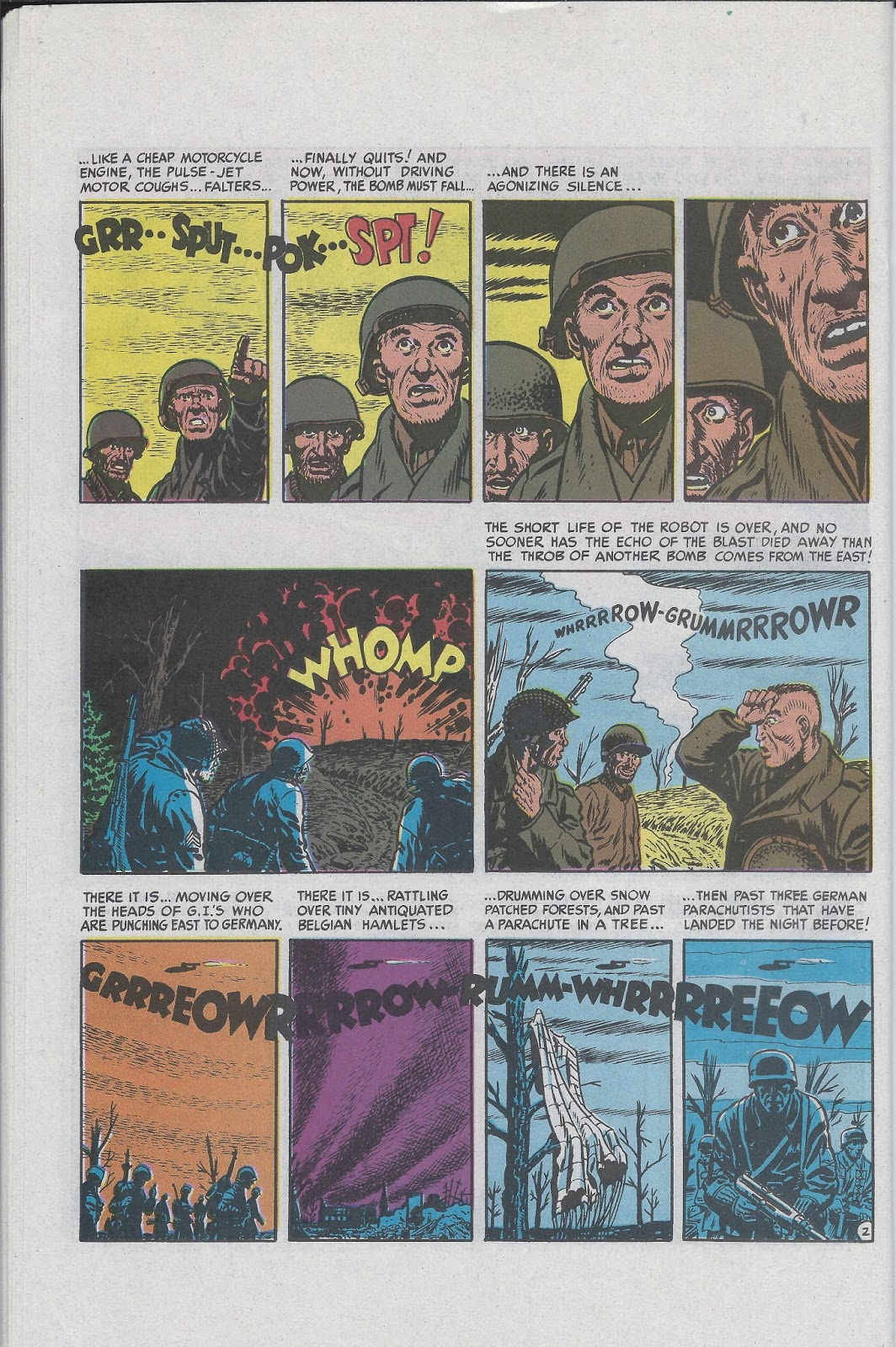 Two-Fisted Tales (1950) #25 Buzz Bomb pg2, penciled by John Severin & inked by Will Elder.