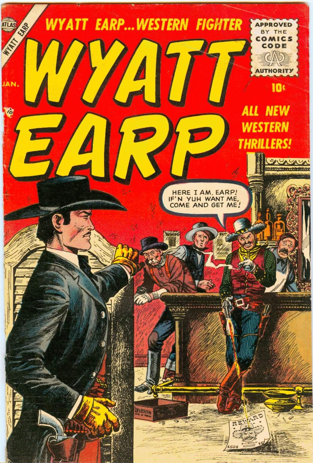Wyatt Earp (1955) #2, cover by John Severin.