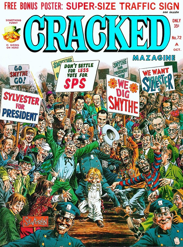 Cracked (1958) #72, cover by John Severin.