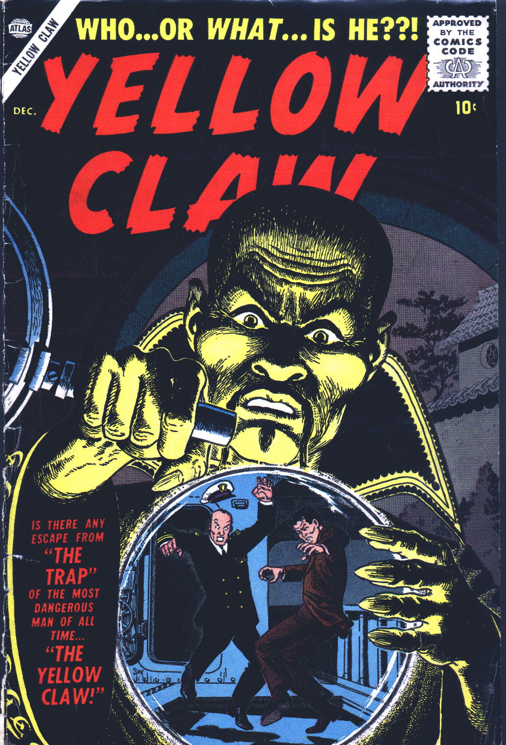 Yellow Claw (1956) #2, cover by John Severin.