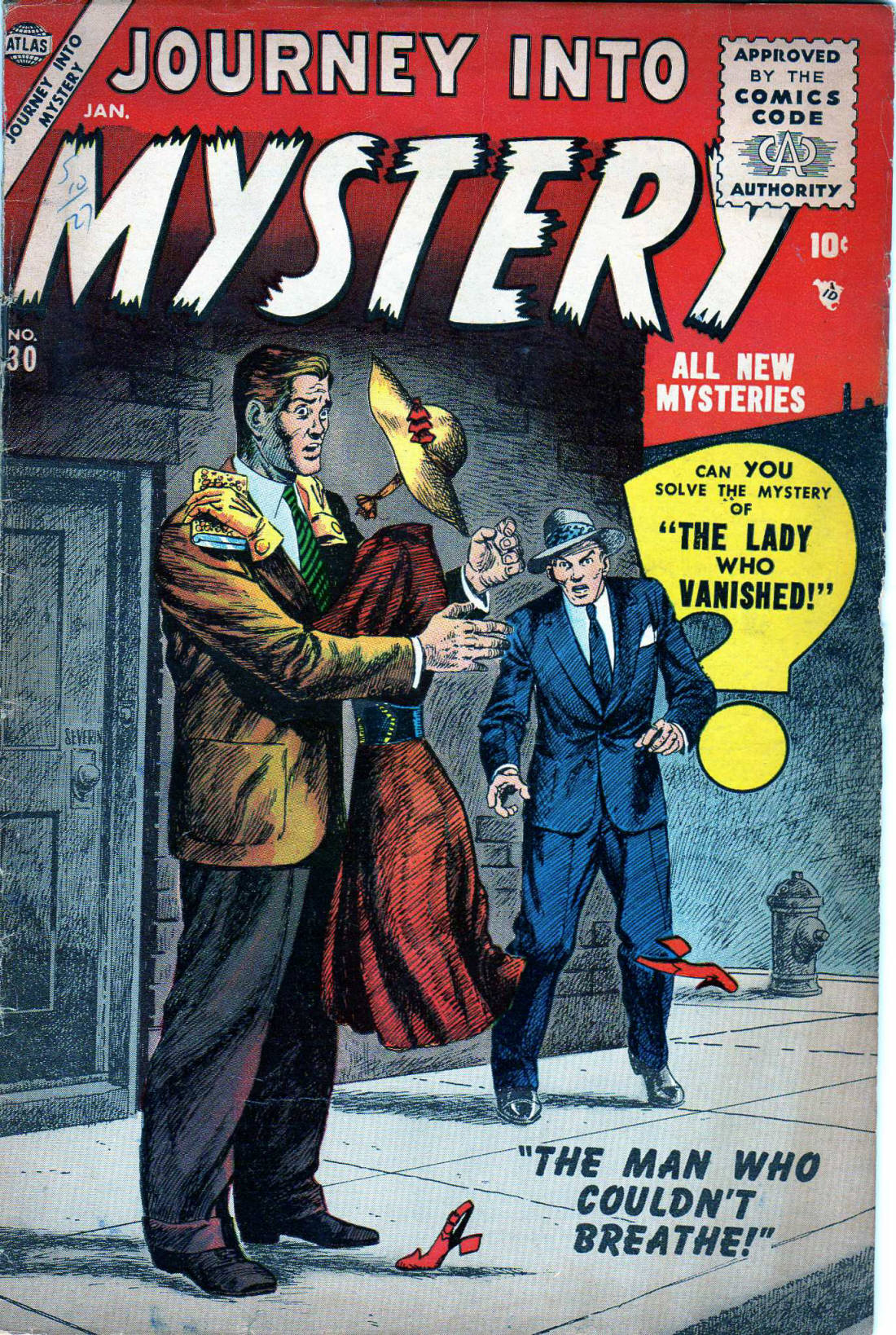 Journey Into Mystery (1952) #30, cover by John Severin.