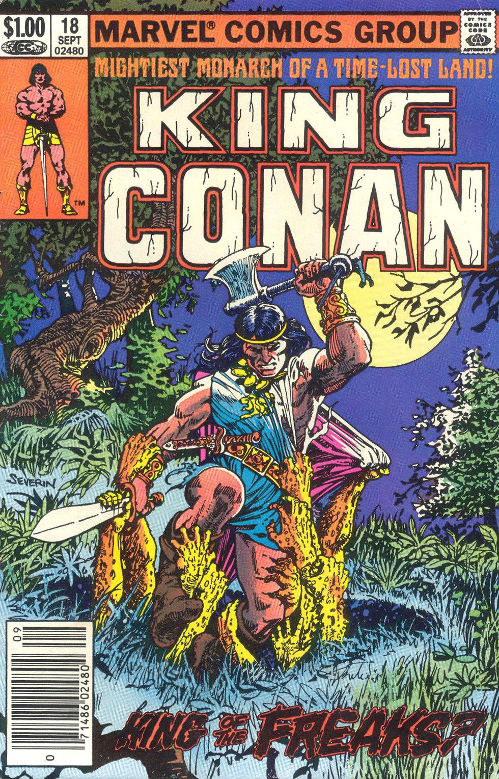 King Conan (1980) #18, cover by John Severin.