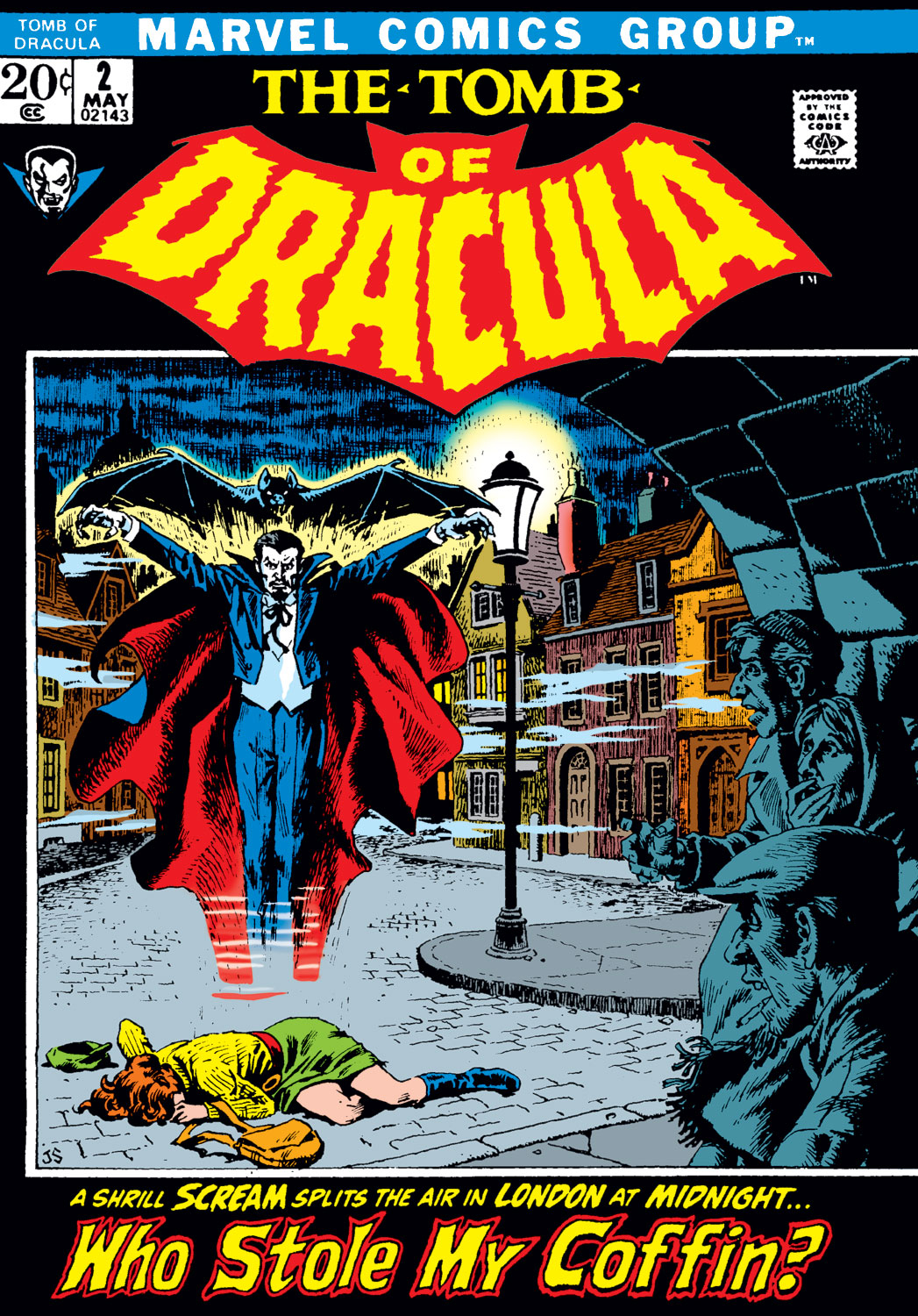 Tomb of Dracula (1972) #2, cover by John Severin.