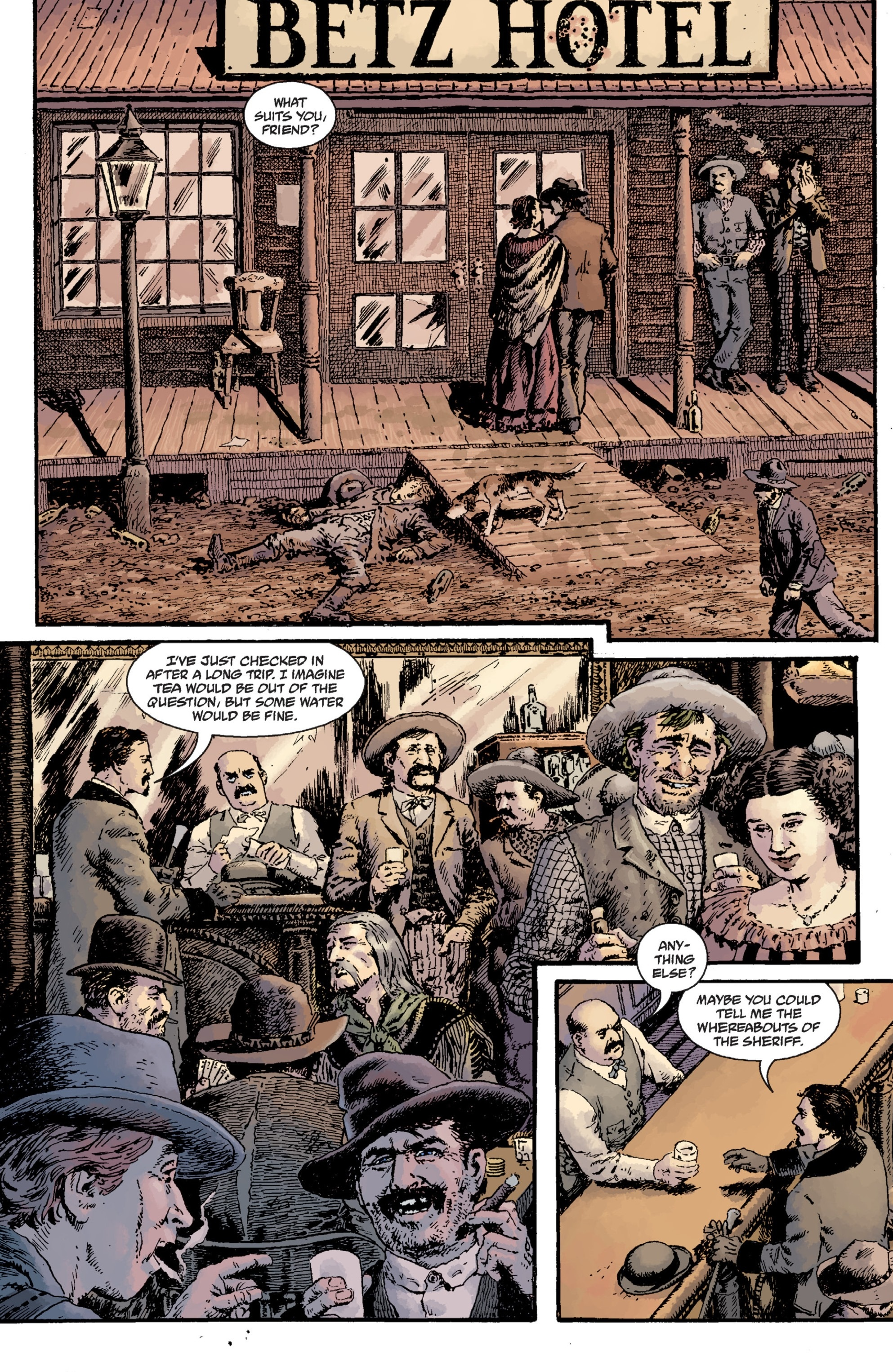 Witchfinder: Lost and Gone Forever (2011) #1 pg9, art by John Severin.