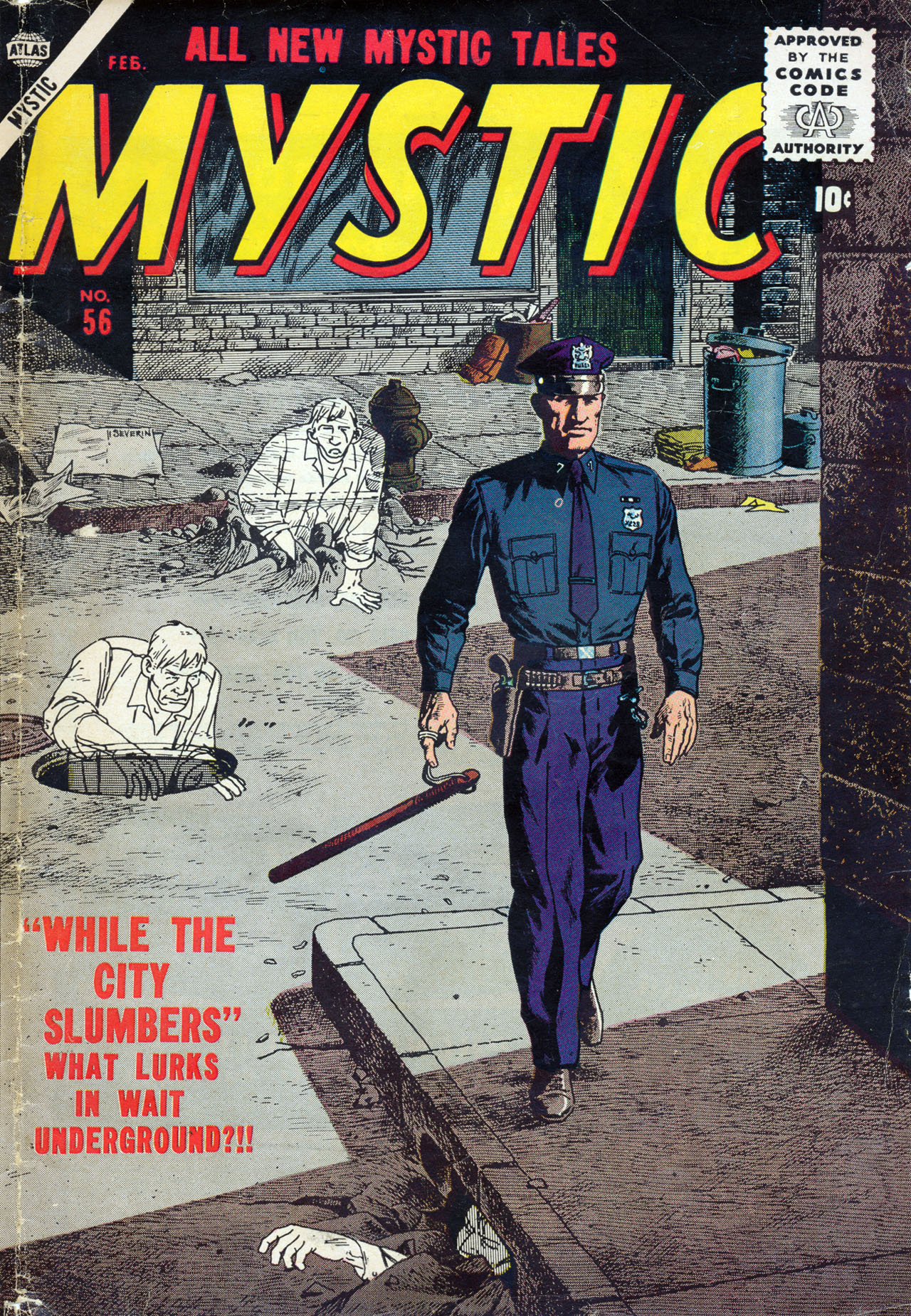 Mystic (1951) #56, cover by John Severin.