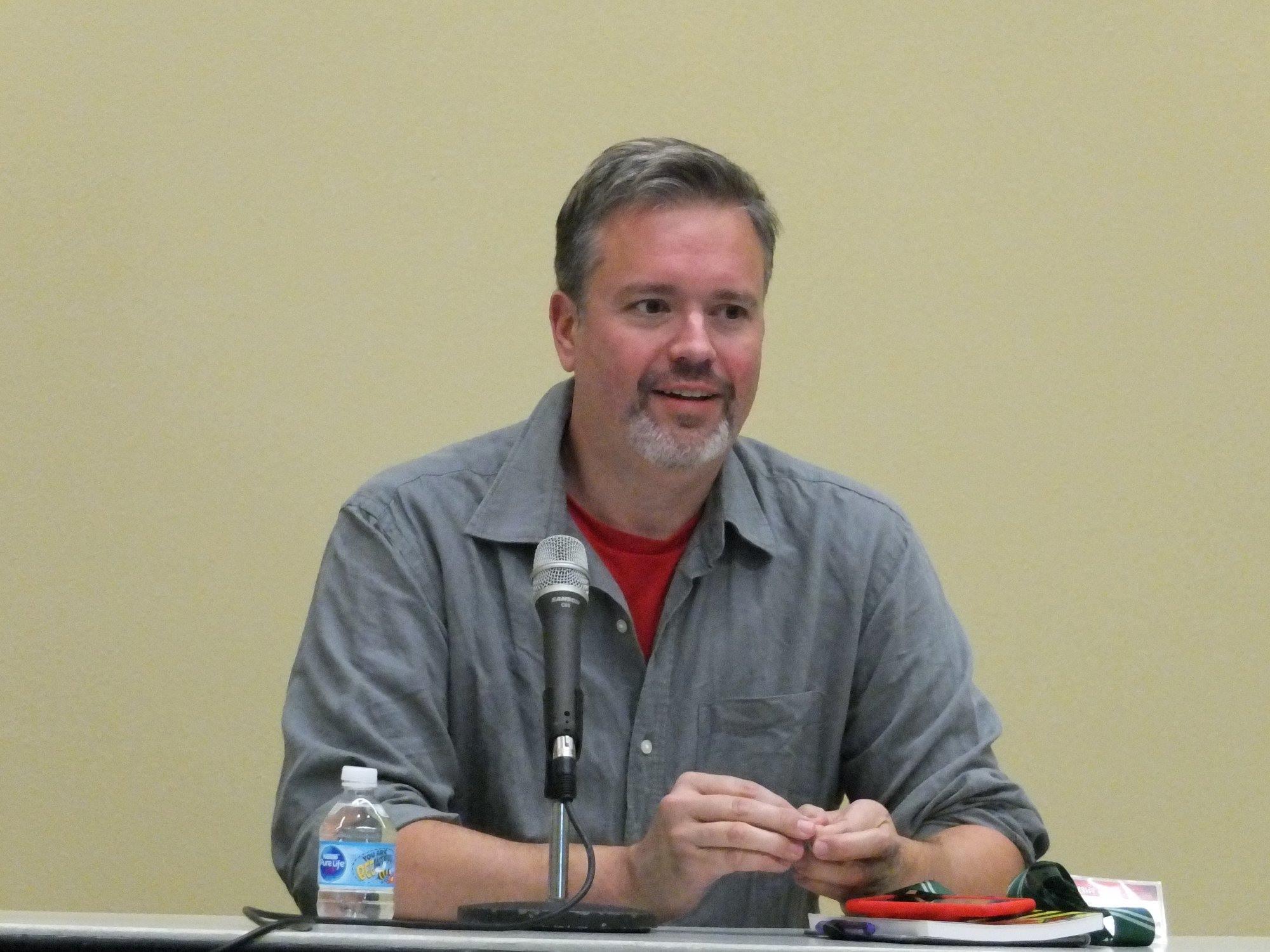 Thom Zahler at Baltimore Comic Con 2018.