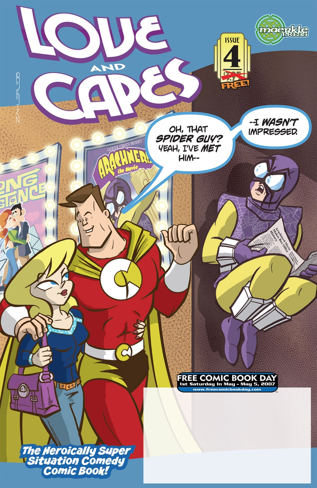 Love and Capes (2006) #4 FCBD by Thom Zahler.