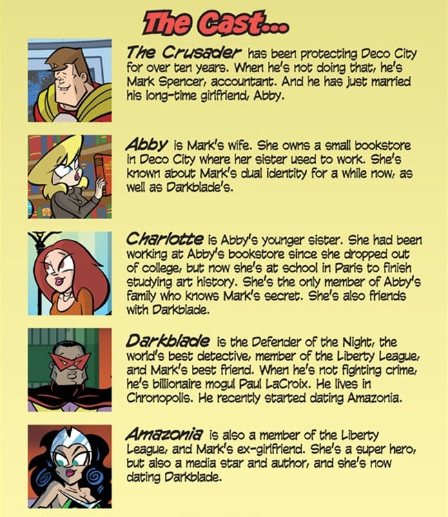 Love and Capes: Ever After (2011) #1 Cast of Characters by Thom Zahler.