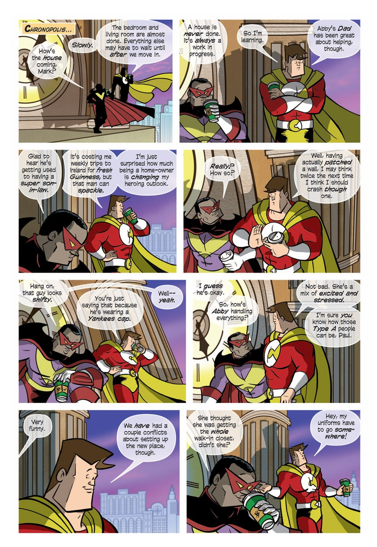 Love and Capes: Ever After (2011) #3 pg1 by Thom Zahler.