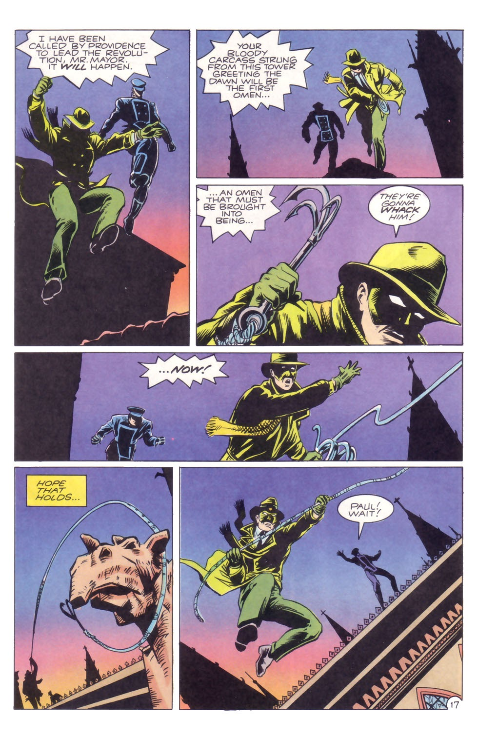 The Green Hornet (1991) #32 pg17, penciled by Rich Suchy & inked by Thom Zahler.