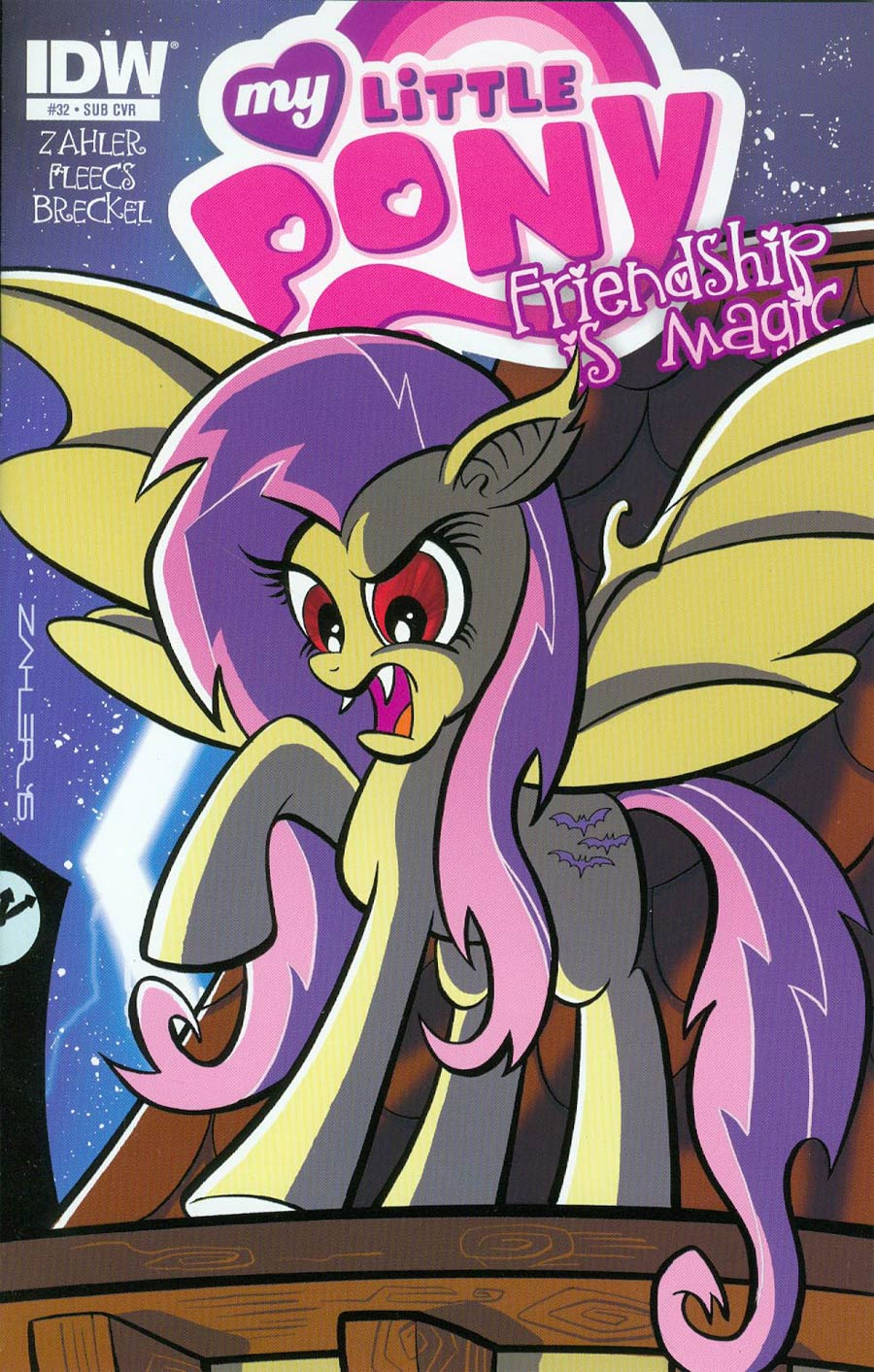My Little Pony: Friendship Is Magic (2012) #32 Sub Variant cover by Thom Zahler.