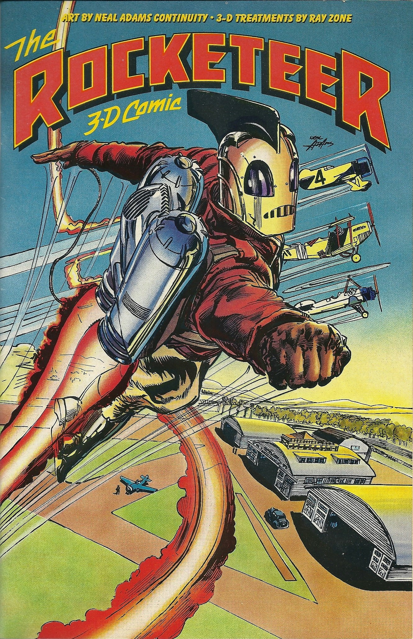 The Rocketeer 3D Comic (1991) #1, cover by Neal Adams.