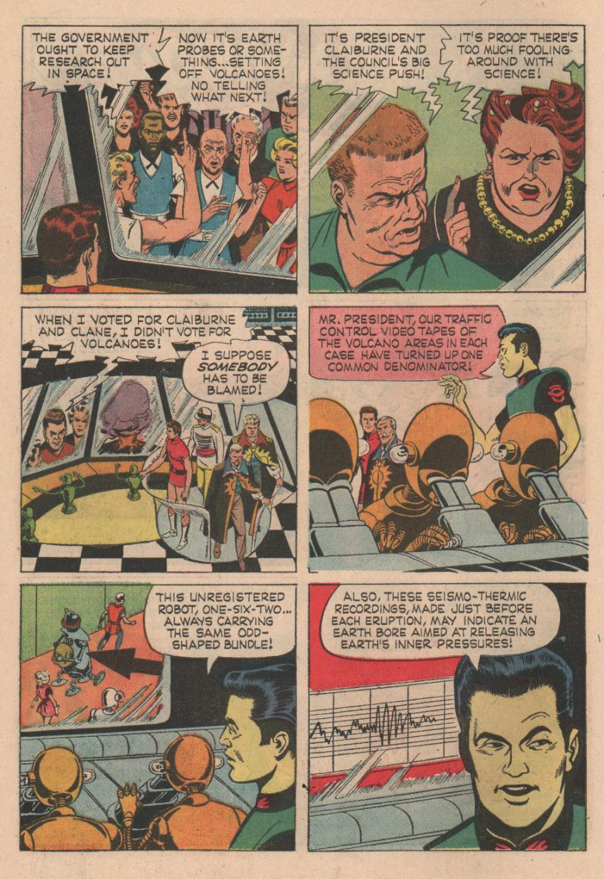Magnus Robot Fighter (1963) #12 pg4, penciled by Russ Manning & inked by Mike Royer.