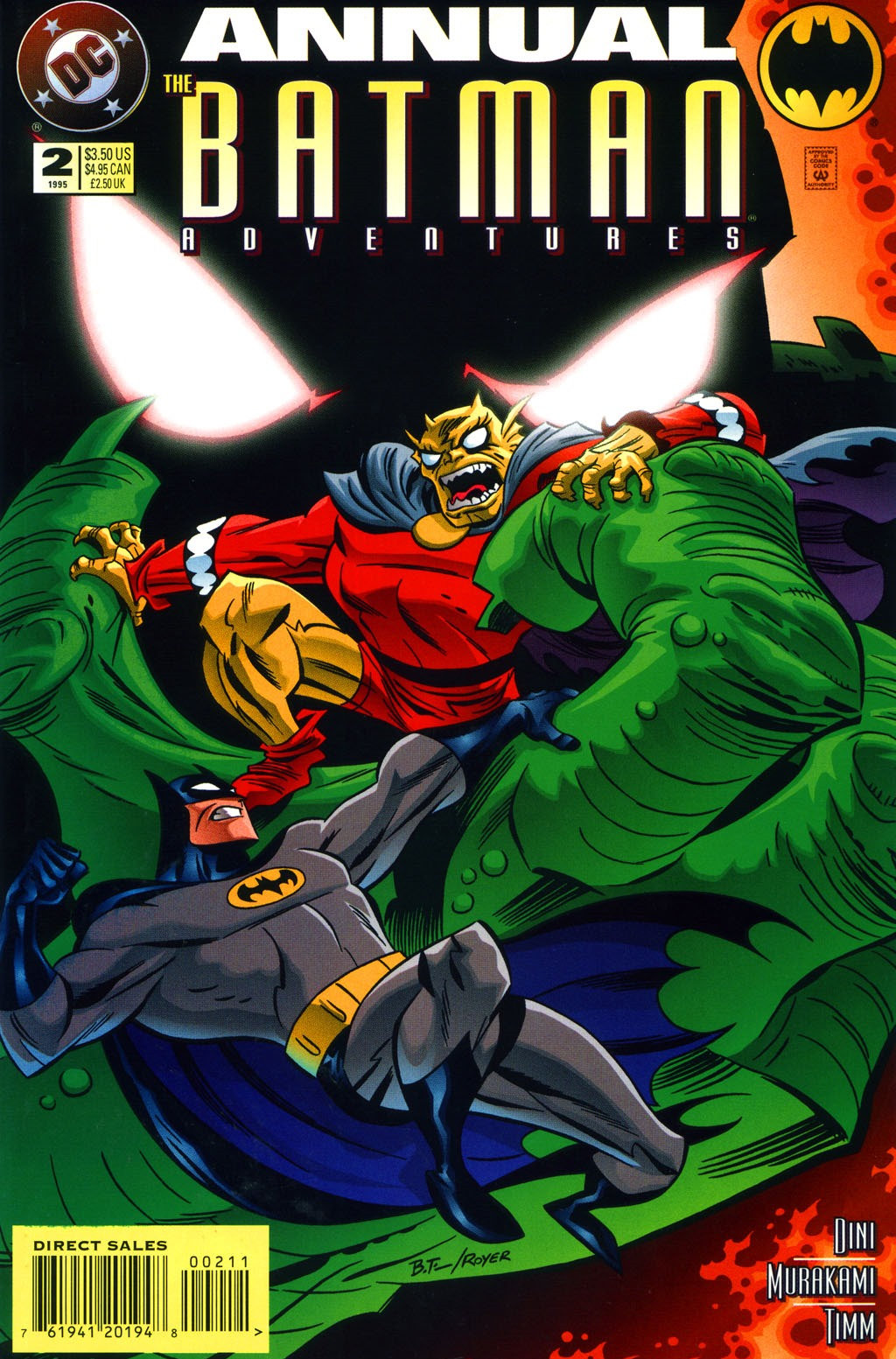 Batman Adventures Annual (1994) #2, cover penciled by Bruce Timm & inked by Mike Royer.