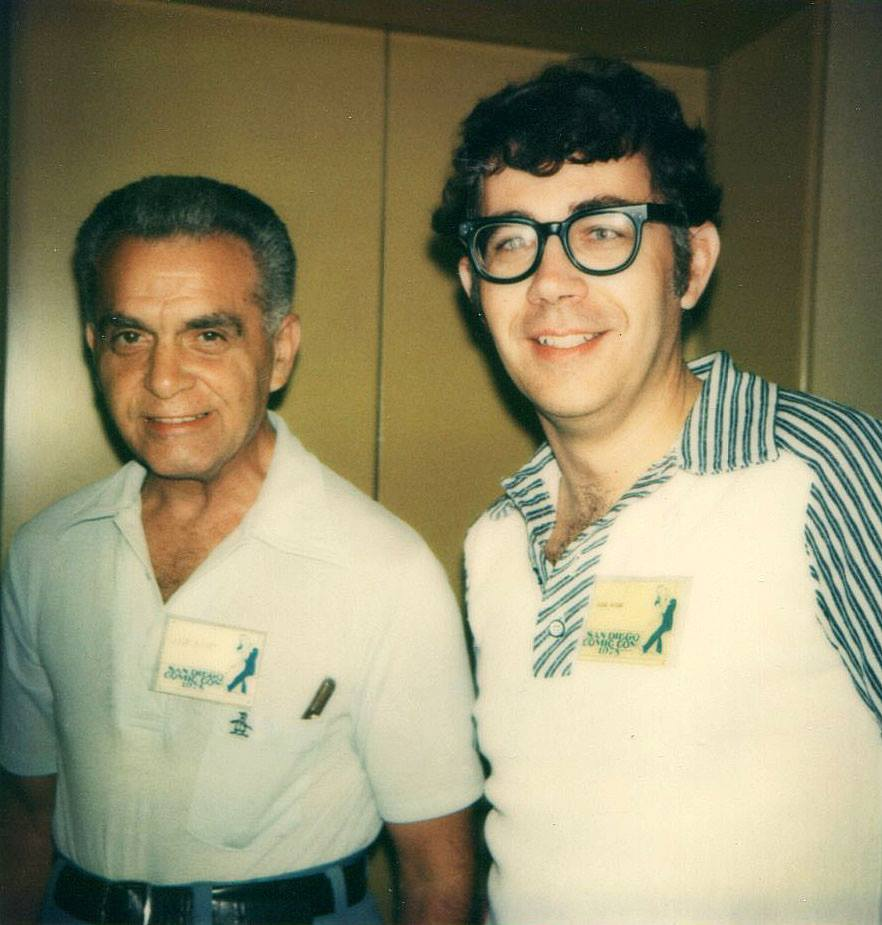 Jack Kirby & Mike Royer at SDCC 1975.