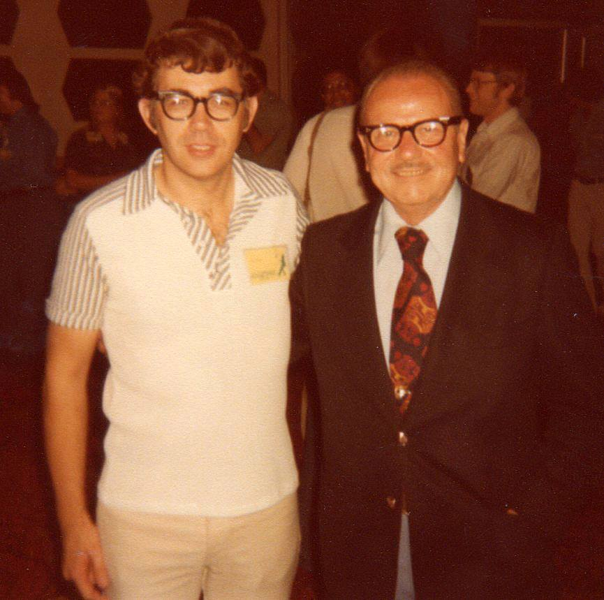 Mike Royer with Burne Hogarth at the 1978 Inkpot Awards.
