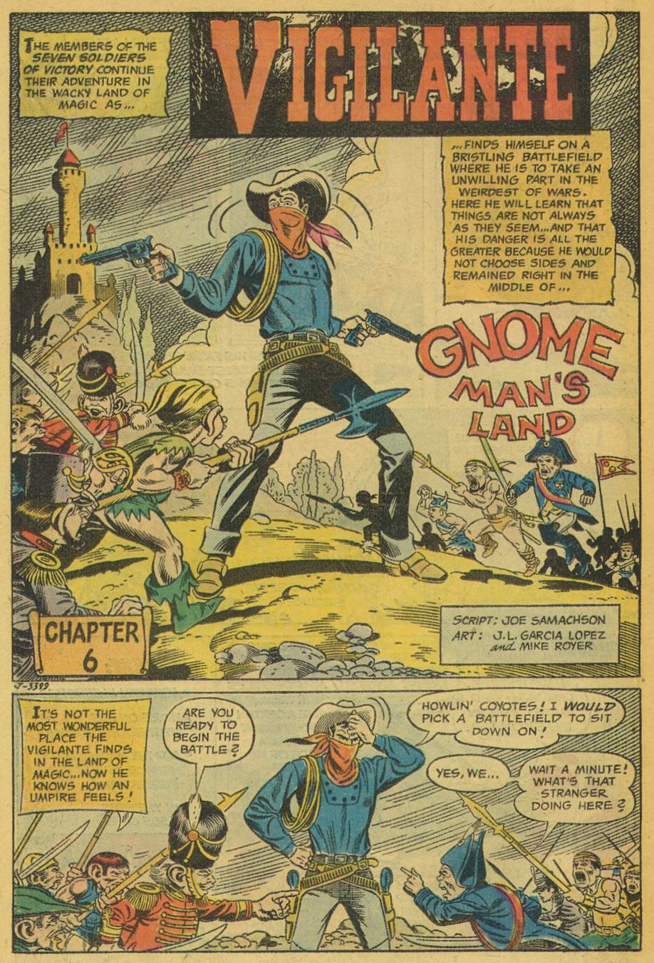 Adventure Comics (1938) #442 pg24, penciled by Jose Luis Garcia-Lopez & inked by Mike Royer.