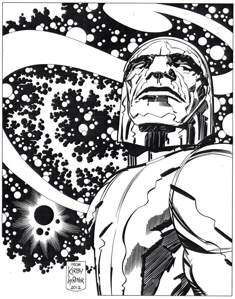 Darkseid pin-up 2012, from Jack Kirby By Mike Royer.
