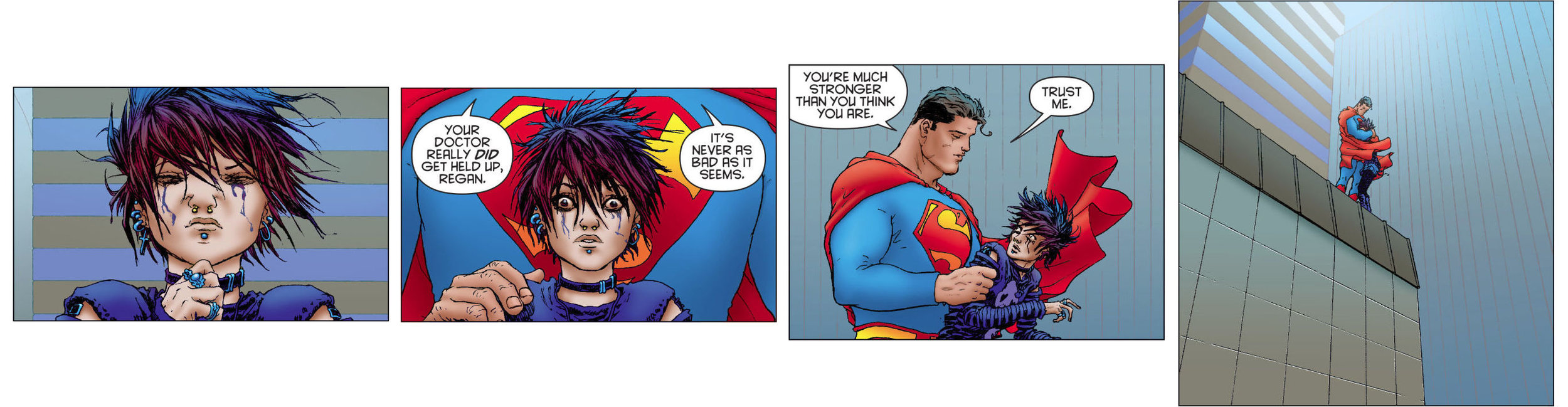 A few panels from All-Star Superman (2006) #10 - by Grant Morrison & Frank Quitely.