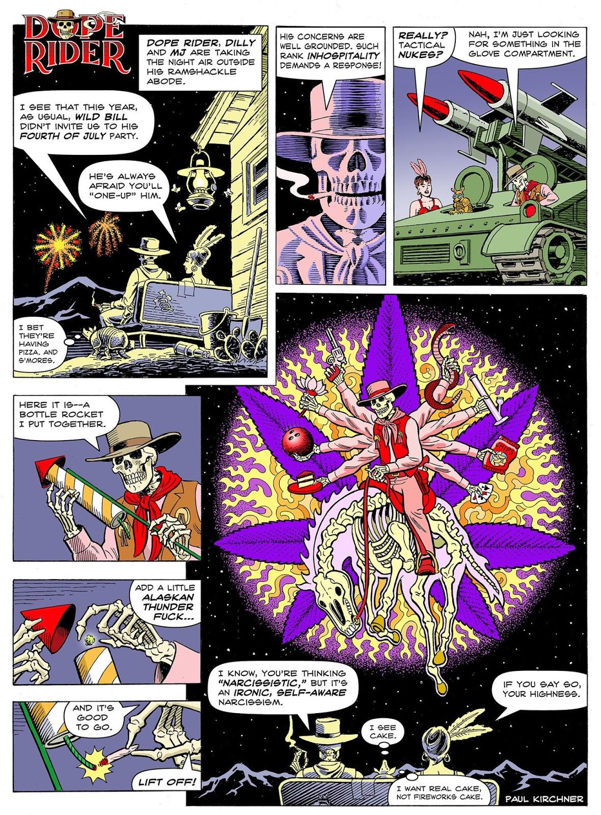 Dope Rider: Fireworks, by Paul Kirchner