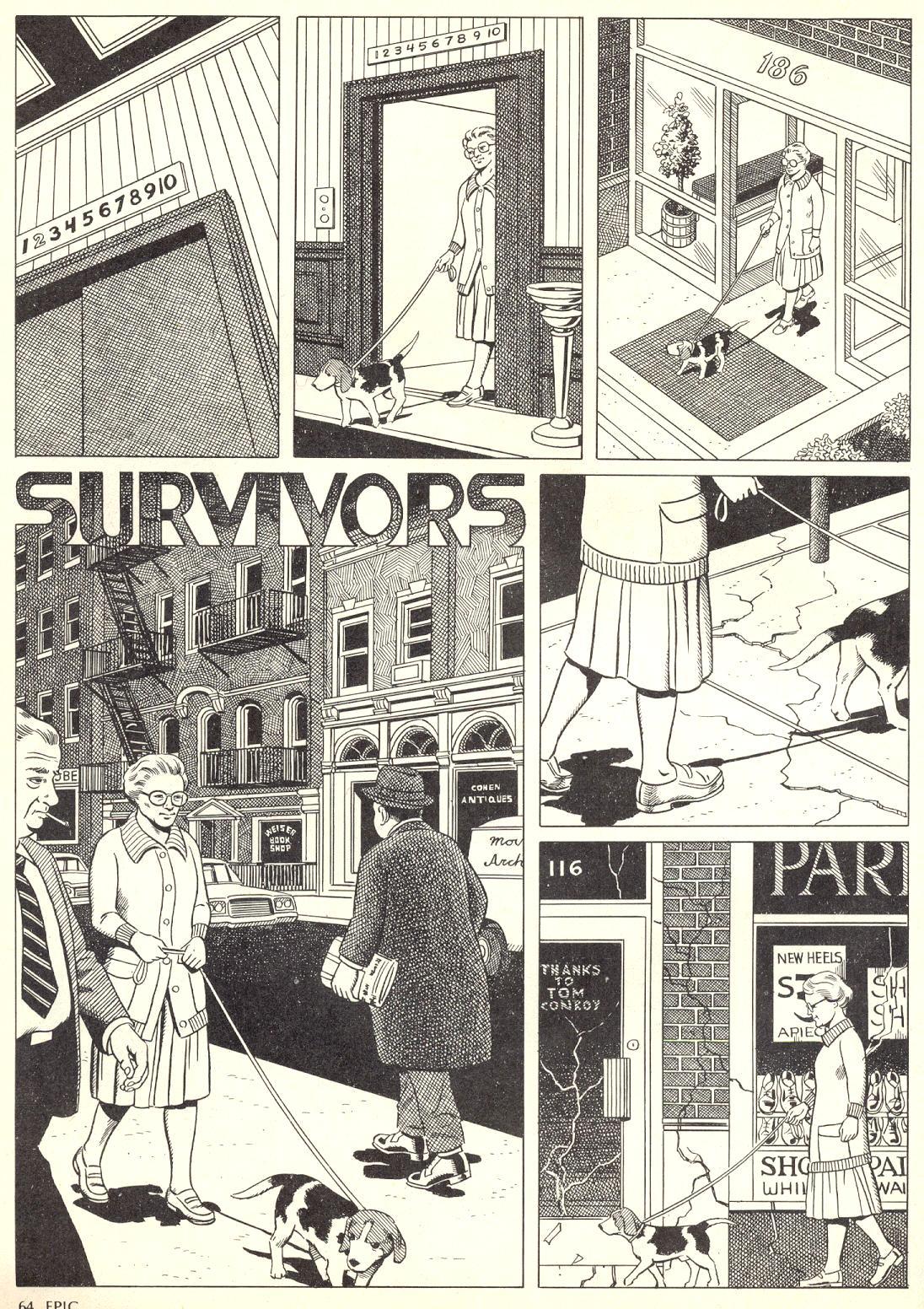 Epic Illustrated (1980) #4 Survivors pg1.