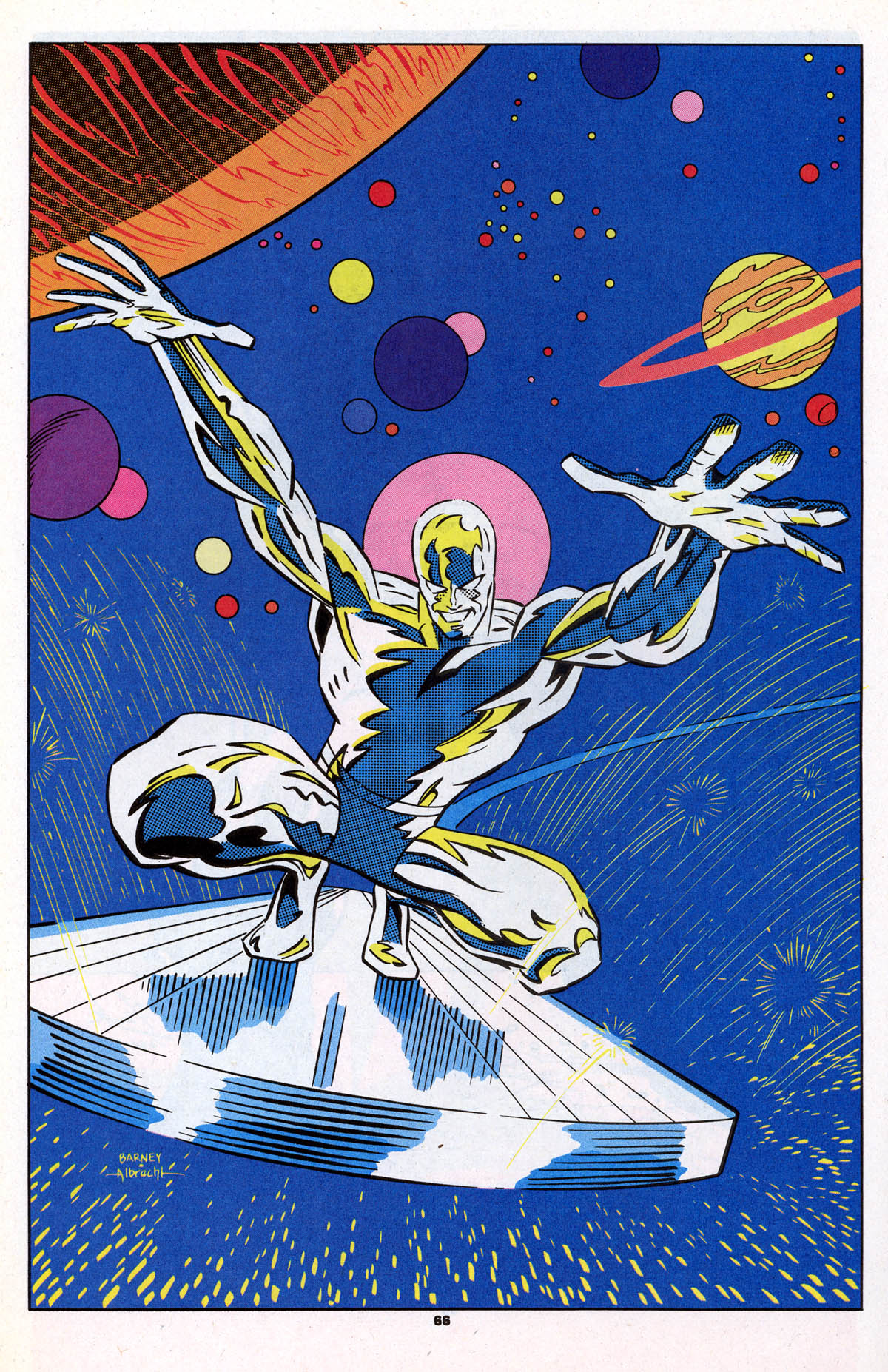 Marvel Super Heroes (1990) #15 pg 66, penciled by Joe Barney & inked by Jeff Albrecht.