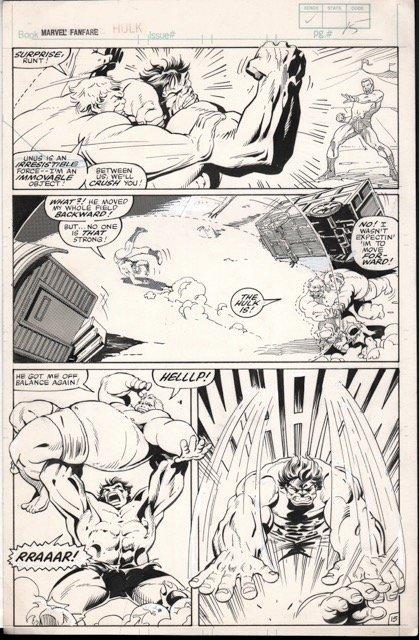 Marvel Fanfare (1982) #7 pg 15, original art penciled by Joe Barney & inked by George Freeman.