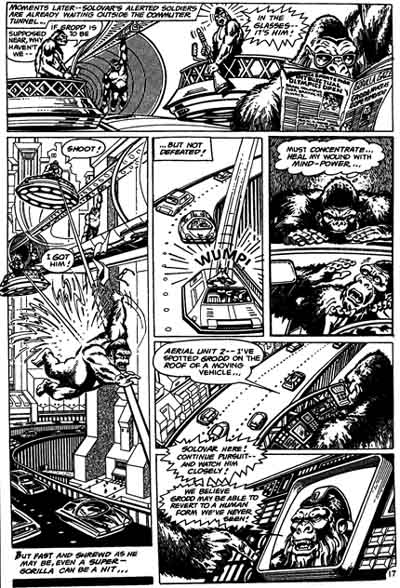 Another unpublished page from  Grodd of Gorilla City , penciled by Joe Barney & inked by Terry Austin.