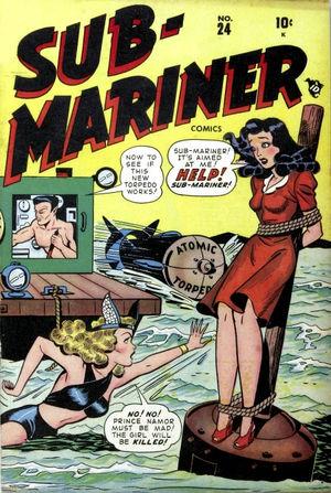 Sub-Mariner Comics (1941) #24, cover by Ken Bald.