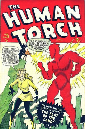 Human Torch (1940) #34, cover by Ken Bald.