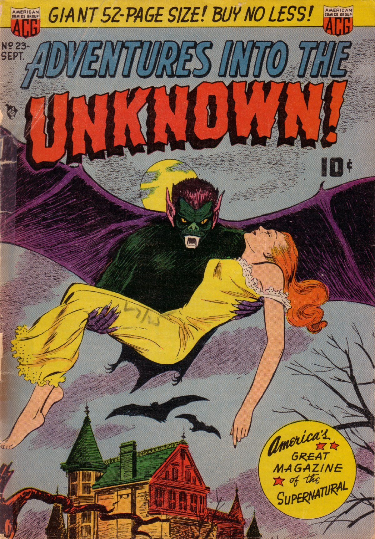 Adventures Into the Unknown (1948) #23, cover by Ken Bald.