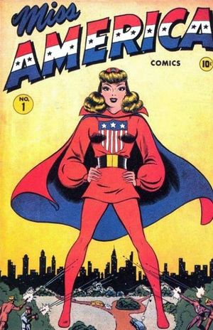 Miss America (1944) #1, cover by Ken Bald.