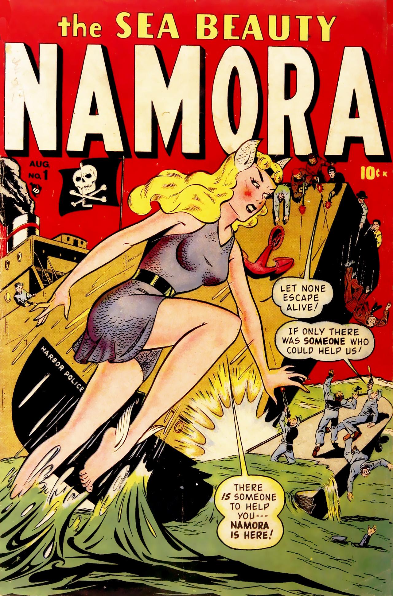 Namora (1948) #1, cover by Ken Bald.