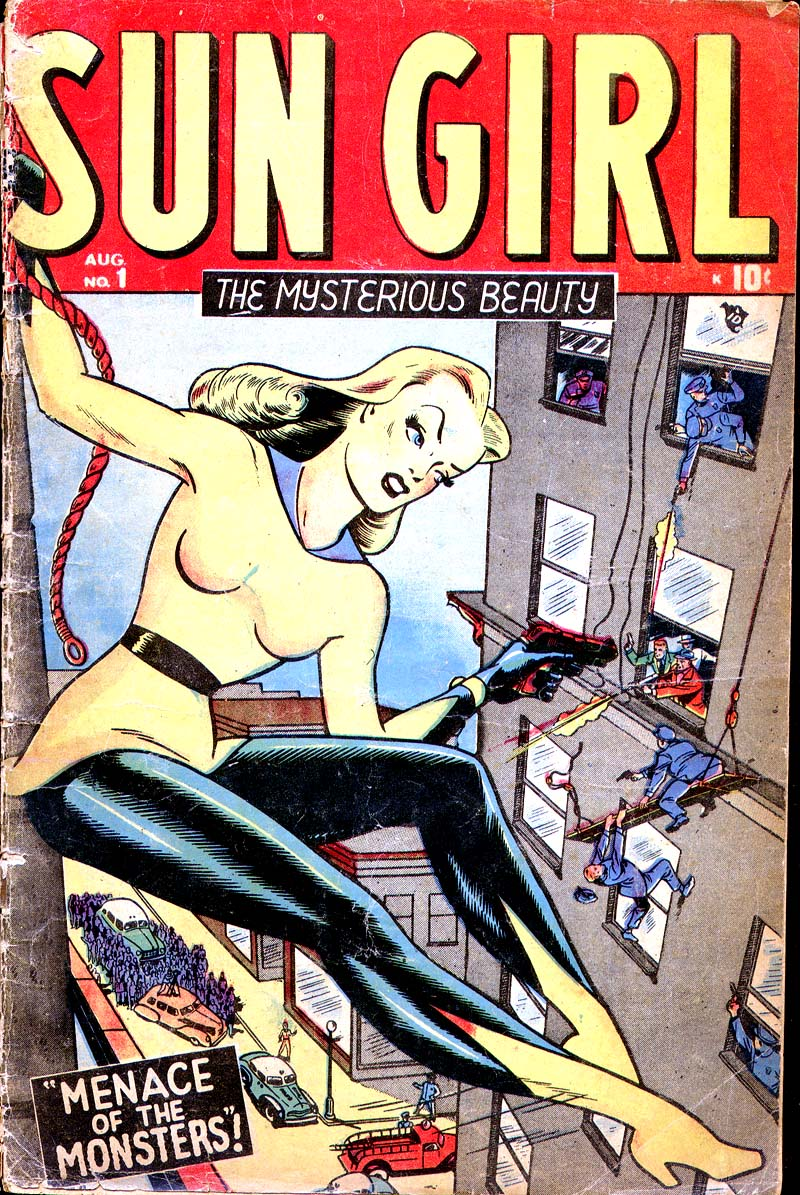 Sun Girl (1948) #1, cover by Ken Bald.