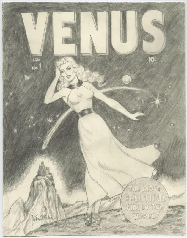 Venus (1948) #1 cover recreation by Ken Bald.