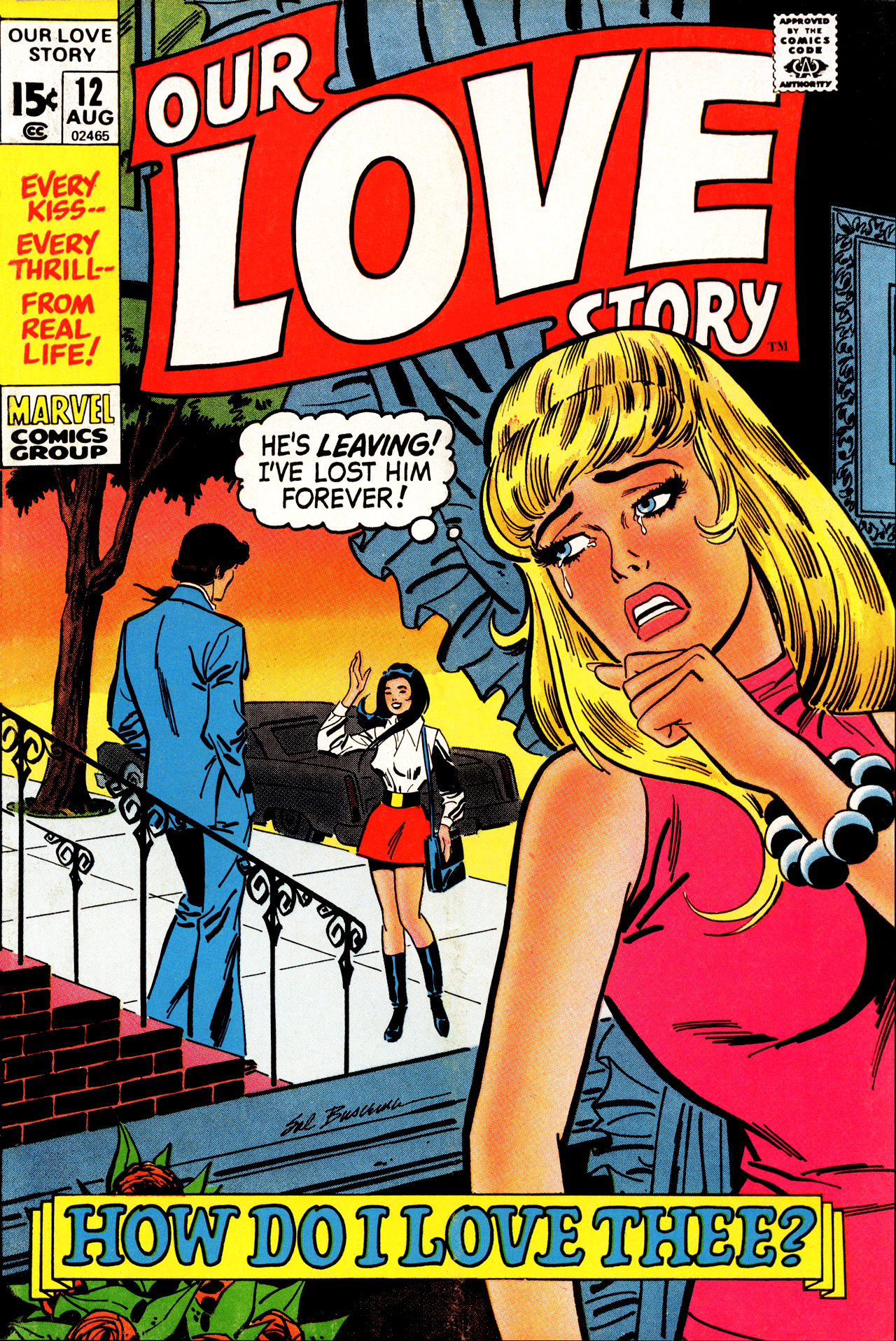 Our Love Story (1969) #12, cover by Sal Buscema.