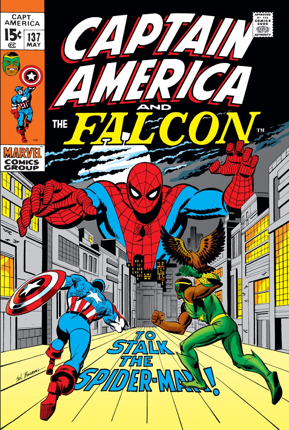 Captain America (1968) #137, cover by Sal Buscema.