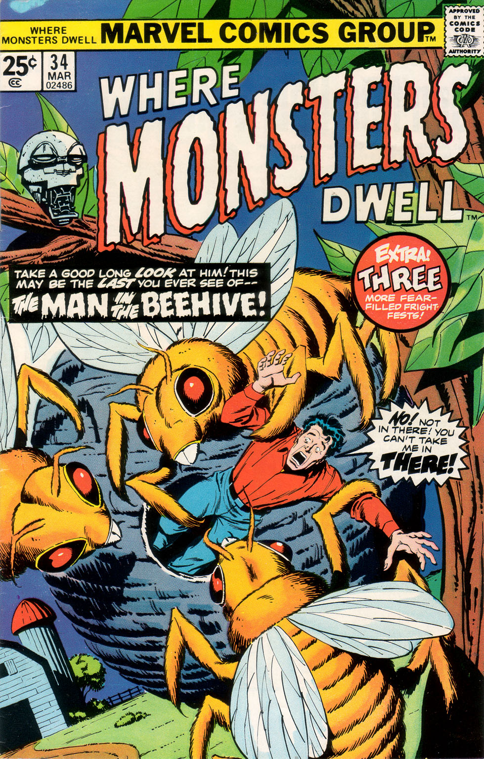 Where Monsters Dwell (1970) #34, cover by Sal Buscema.