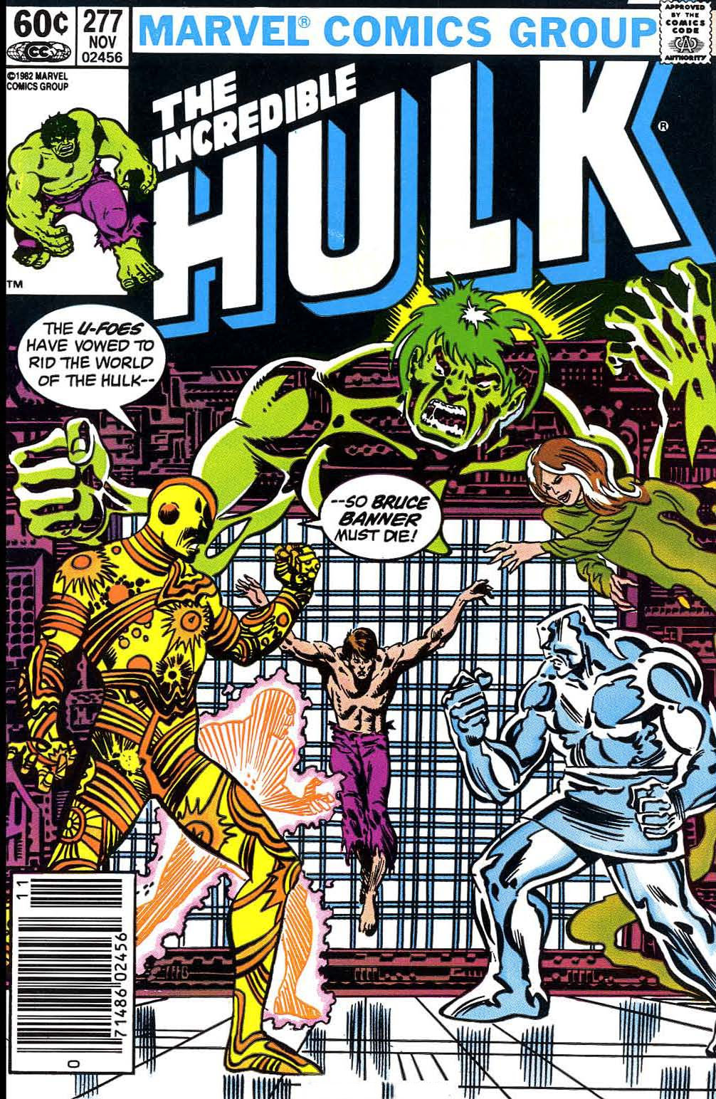 Incredible Hulk (1968) #277, cover penciled by Sal Buscema & inked by Al Milgrom.