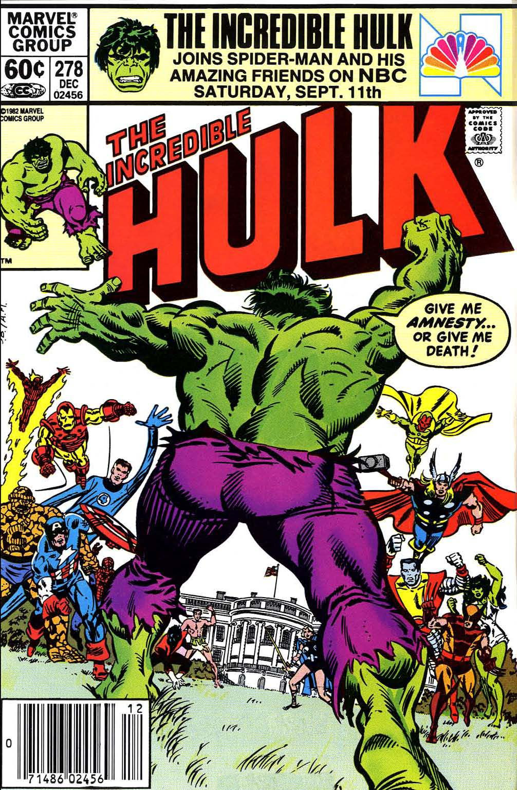 Incredible Hulk (1968) #278, cover penciled by Sal Buscema & inked by Al Milgrom.