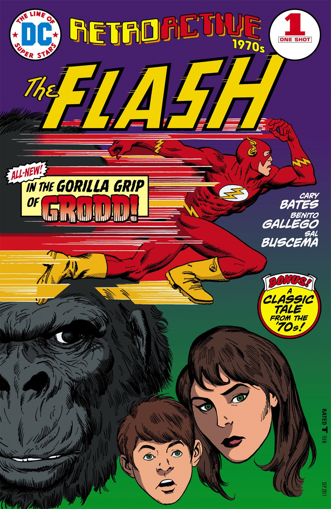 DC Retroactive Flash The '70s (2011) #1, cover penciled by Benito Gallego & inked by Sal Buscema.